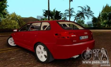 Audi A3 Sportback 3.2 Quattro para GTA San Andreas left