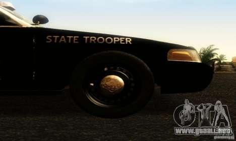 Ford Crown Victoria Texas Police para la visión correcta GTA San Andreas