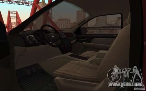 Chevrolet Tahoe para GTA San Andreas vista hacia atrás