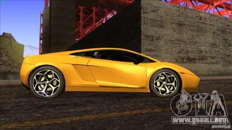 Lamborghini Gallardo SE para GTA San Andreas interior