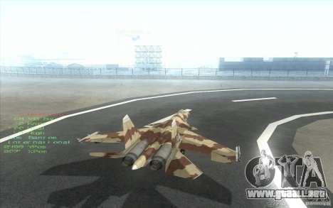 El Su-37 Terminator para la visión correcta GTA San Andreas