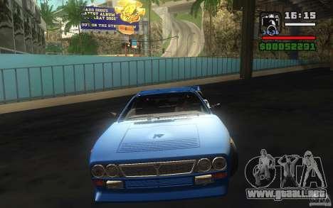Lancia 037 Stradale para GTA San Andreas vista hacia atrás