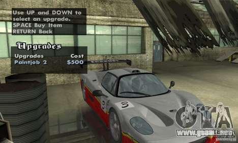 Ferrari F50 GT (v1.0.0) para visión interna GTA San Andreas