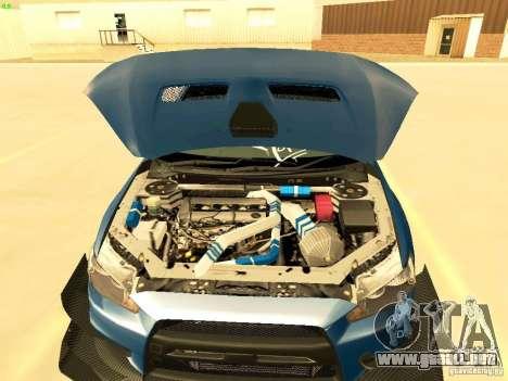 Mitsubishi Lancer Evolution X Time Attack para vista lateral GTA San Andreas
