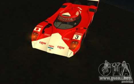 Toyota GT-One TS020 para GTA San Andreas vista hacia atrás