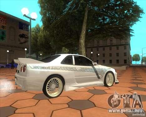 Nissan Skyline R34 Veilside street drag para GTA San Andreas