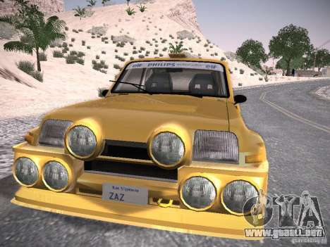 Renault 5 Turbo para GTA San Andreas vista posterior izquierda