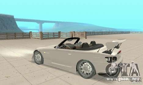 Honda S2000 Cabrio West Tuning para GTA San Andreas vista hacia atrás