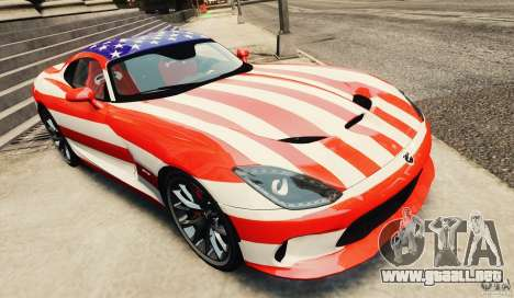 Dodge Viper GTS 2013 para GTA 4 vista interior