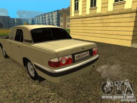 Volga GAZ 31105 restyling para la visión correcta GTA San Andreas