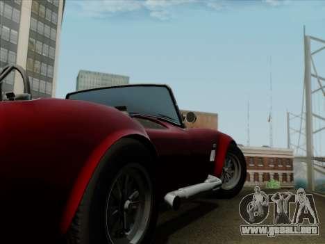 Shelby Cobra 427 para vista inferior GTA San Andreas