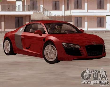 Audi R8 Production para vista lateral GTA San Andreas