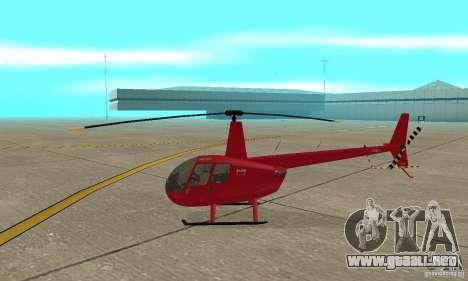 Robinson R44 Raven II NC 1.0 piel 1 para GTA San Andreas vista posterior izquierda