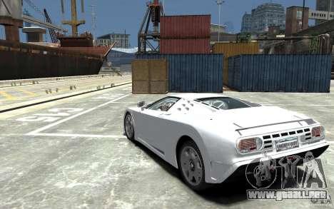 Bugatti EB110 Super Sport para GTA 4 Vista posterior izquierda