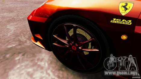 Ferrari 430 Spyder v1.5 para GTA 4 vista hacia atrás