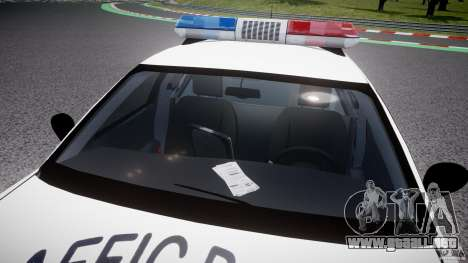Ford Crown Victoria Karachi Traffic Police para GTA 4 vista superior