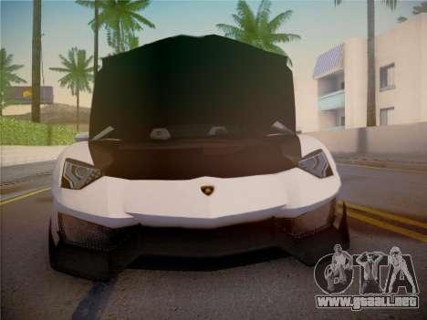 Lamborghini Aventador LP700-4 Roadstar para la vista superior GTA San Andreas