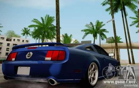 Ford Mustang Twin Turbo para GTA San Andreas vista hacia atrás