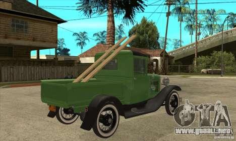 Ford Model A Pickup 1930 para la visión correcta GTA San Andreas