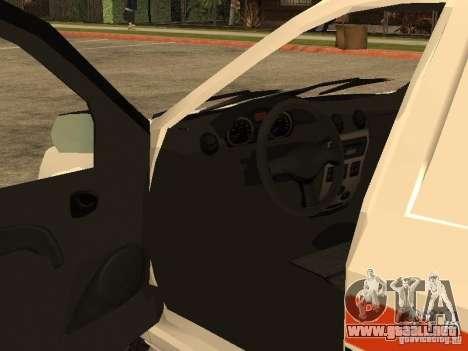 Dacia Logan Ambulanta para la vista superior GTA San Andreas