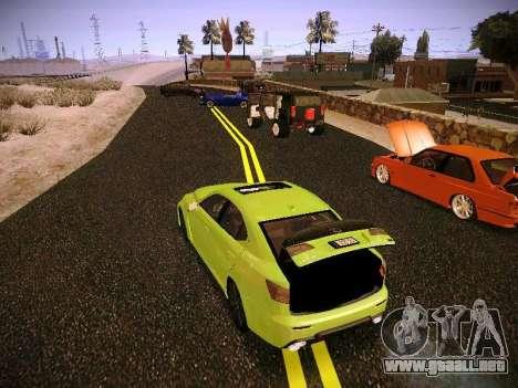 Lexus I SF para GTA San Andreas vista hacia atrás