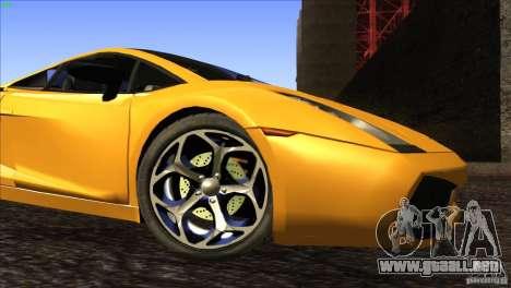 Lamborghini Gallardo SE para vista inferior GTA San Andreas