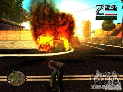 Basura de la explosión para GTA San Andreas sucesivamente de pantalla
