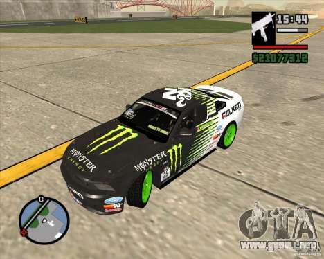 Ford Mustang GT 2010 Vaughn Gittin Jr para la visión correcta GTA San Andreas