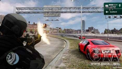 Crysis 2 NanoSuit v4.0 para GTA 4 tercera pantalla