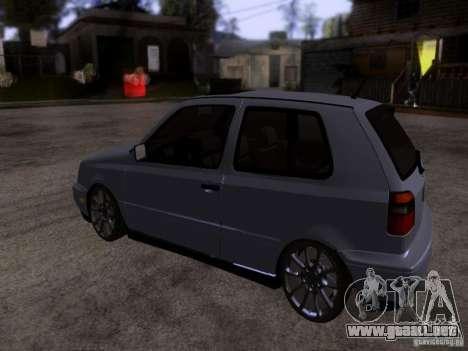Volkswagen Golf 3 VR6 para GTA San Andreas vista posterior izquierda