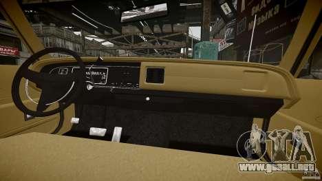Dodge Monaco 1974 stok rims para GTA 4 vista desde abajo