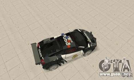 Lamborghini Gallardo Cop V1.0 para GTA San Andreas vista posterior izquierda