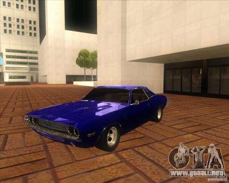 Dodge Challenger RT Hemi para GTA San Andreas