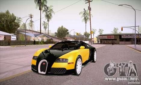 Bugatti Veyron 16.4 EB 2006 para GTA San Andreas