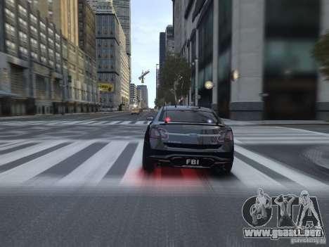 Ford Taurus FBI 2012 para GTA 4 visión correcta