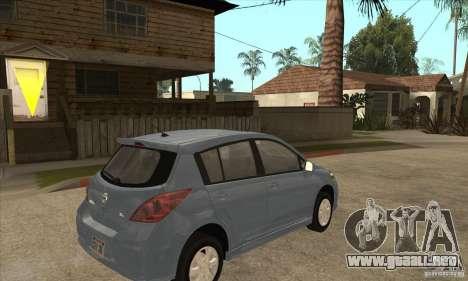 Nissan Tiida para la visión correcta GTA San Andreas