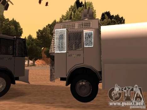 Un cañón de agua policía Rosenbauer v2 para GTA San Andreas left