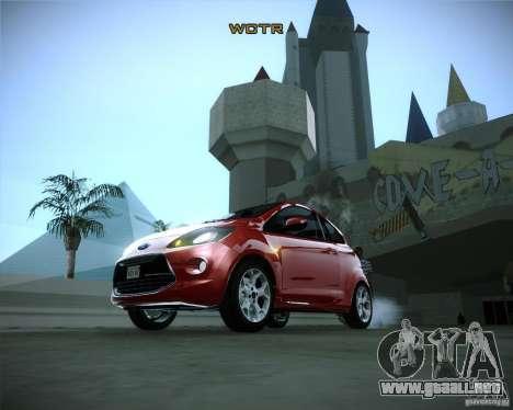 Ford Ka 2011 para GTA San Andreas vista hacia atrás