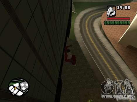 Wallrun-endless corriendo en la pared para GTA San Andreas tercera pantalla