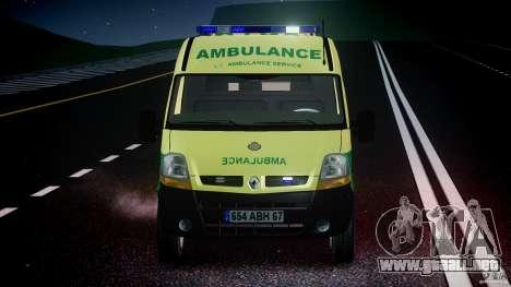 Renault Master 2007 Ambulance Scottish [ELS] para GTA 4 vista desde abajo