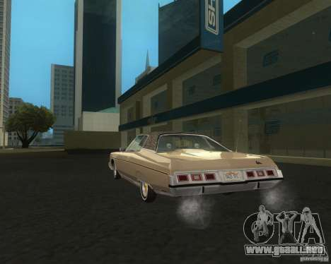 Chevrolet Caprice Classic lowrider para GTA San Andreas vista posterior izquierda