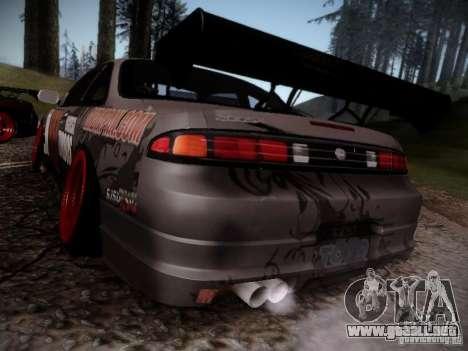 Nissan Silvia S14 Hell para GTA San Andreas vista posterior izquierda
