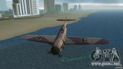 WW2 War Bomber para GTA Vice City vista lateral
