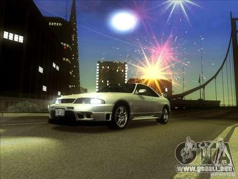 Nissan Skyline GTR BNR33 para GTA San Andreas left