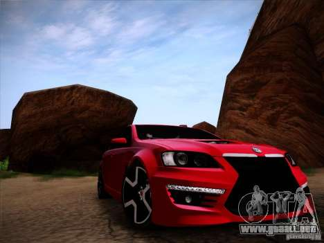 Holden HSV GTS para GTA San Andreas vista posterior izquierda
