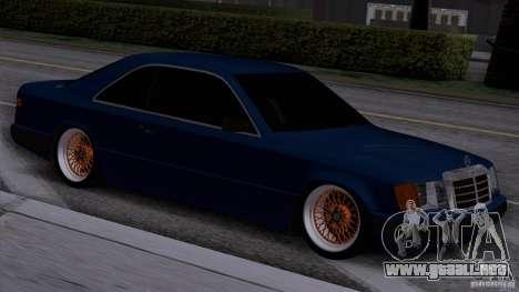 Mercedes-Benz W124 Low Gangster para GTA San Andreas vista posterior izquierda