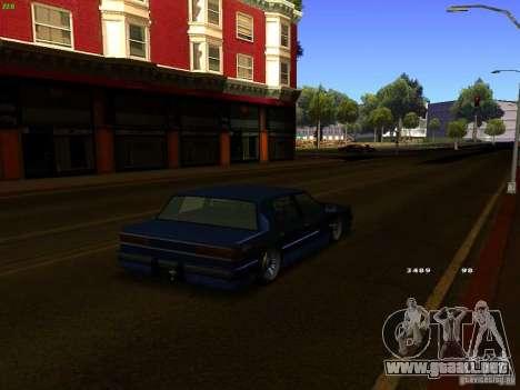 Willard Drift Style para GTA San Andreas vista posterior izquierda