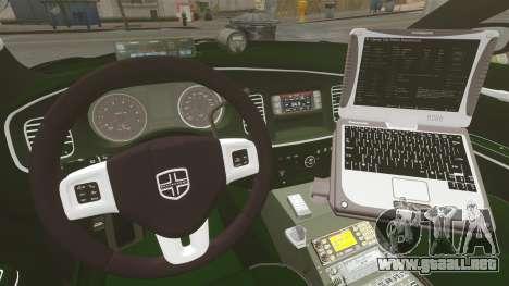 Dodge Charger 2013 Police Code 3 RX2700 v1.1 ELS para GTA 4 vista lateral