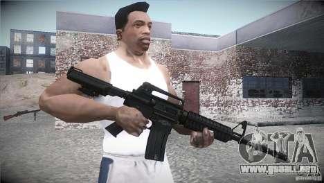 M4A1 para GTA San Andreas tercera pantalla
