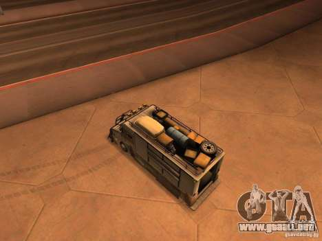 Monster Van para GTA San Andreas vista posterior izquierda